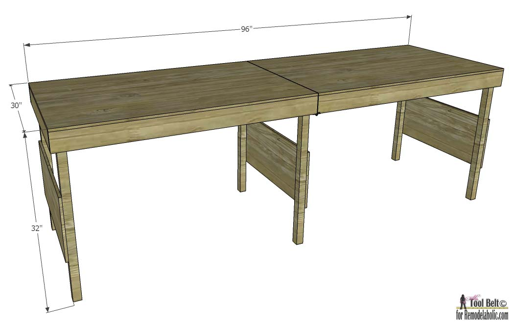 Merveilleux How To Build A DIY Portable Workbench Or Folding Table