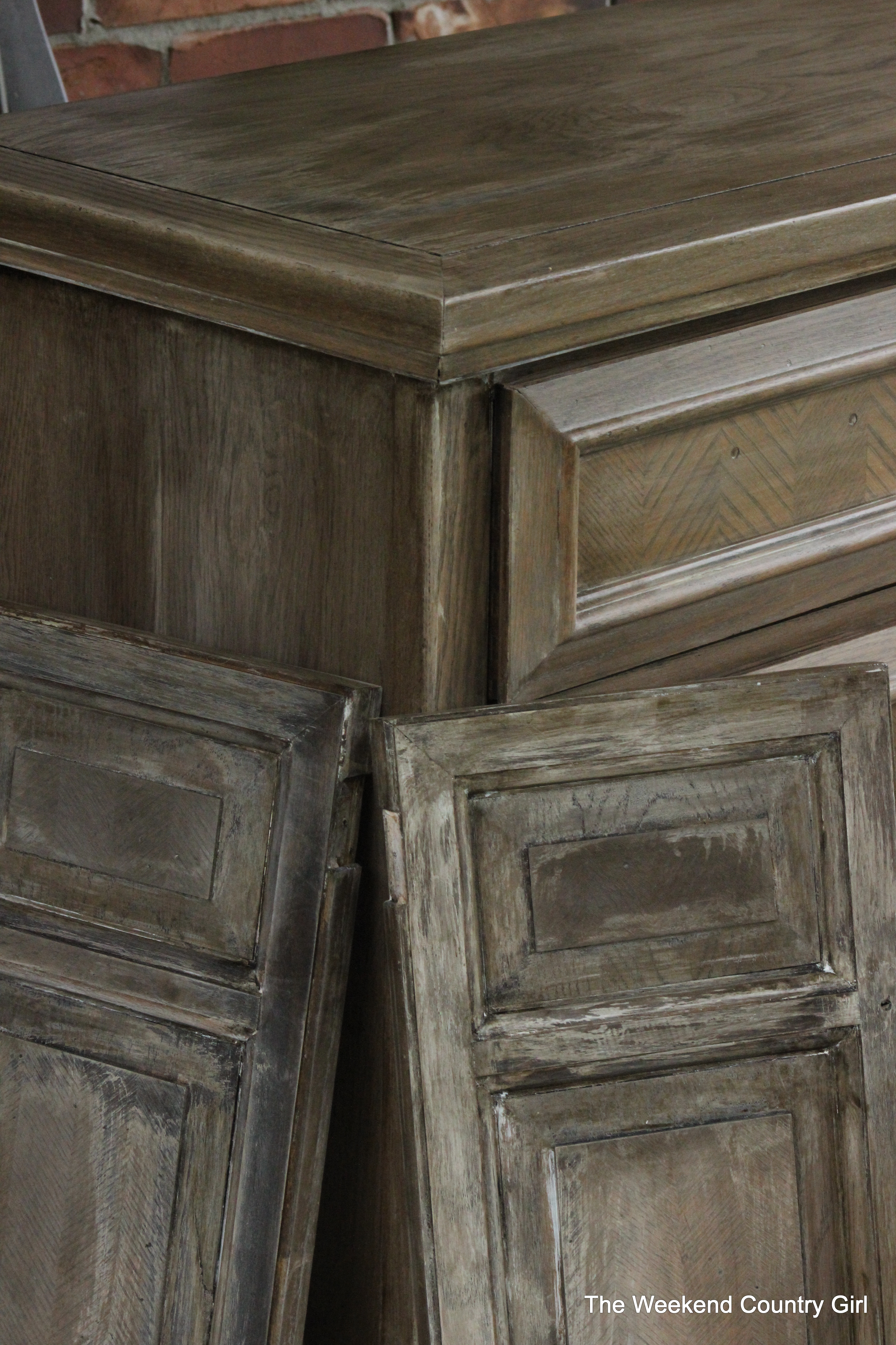 Getting A Restoration Hardware Style Weathered Oak Finish By Karen From The  Weekend Country Girl