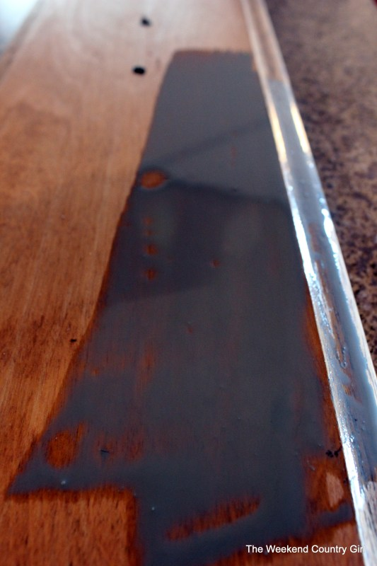 Weathered wood stain tutorail02 by The Weekend Country Girl on @Remodelaholic