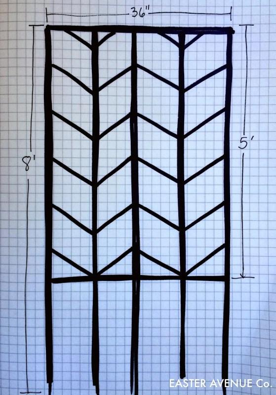 diy chevron garden lattice tutorial - Easter Avenue Co on @Remodelaholic