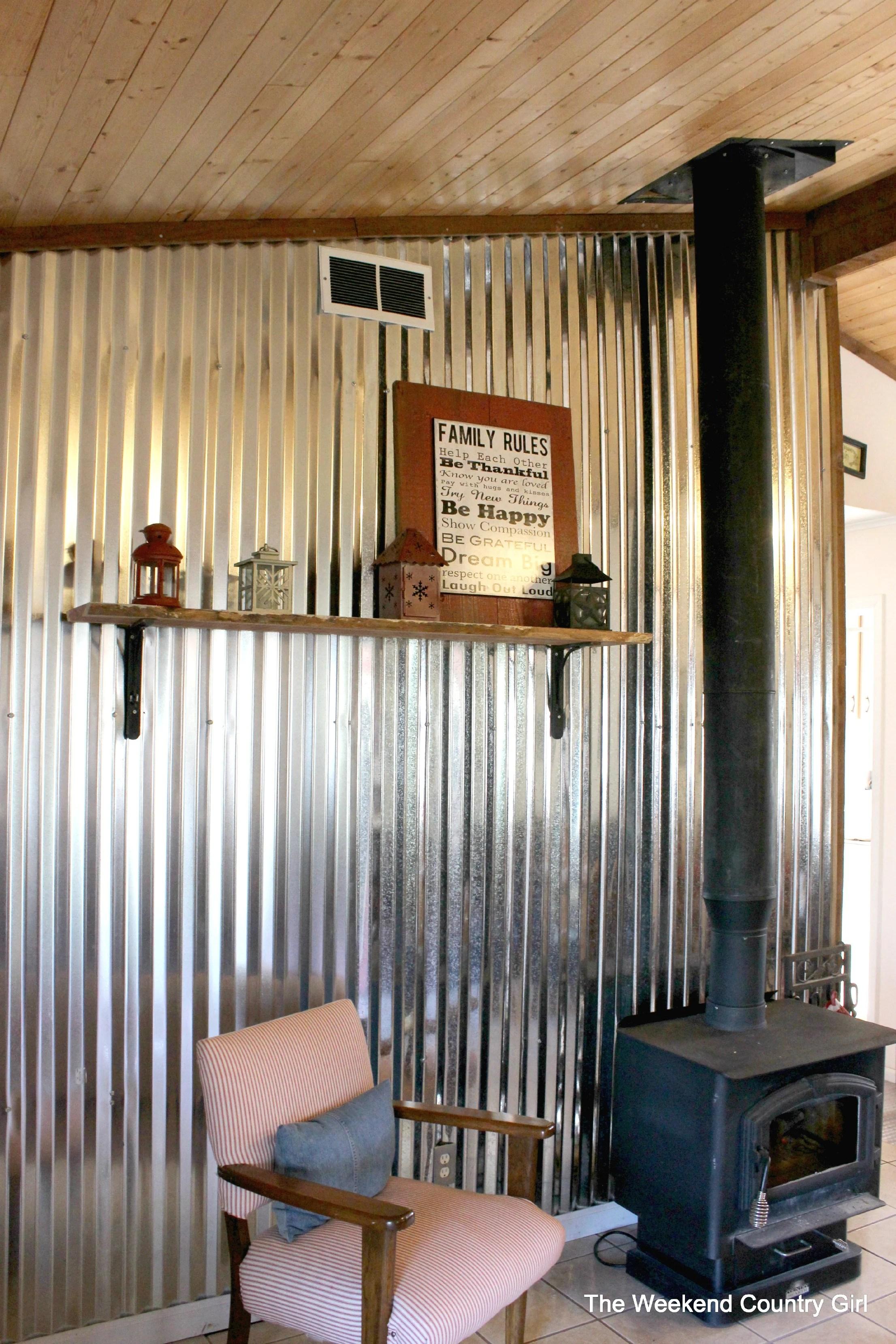 diy corrugated tin metal sheet wall