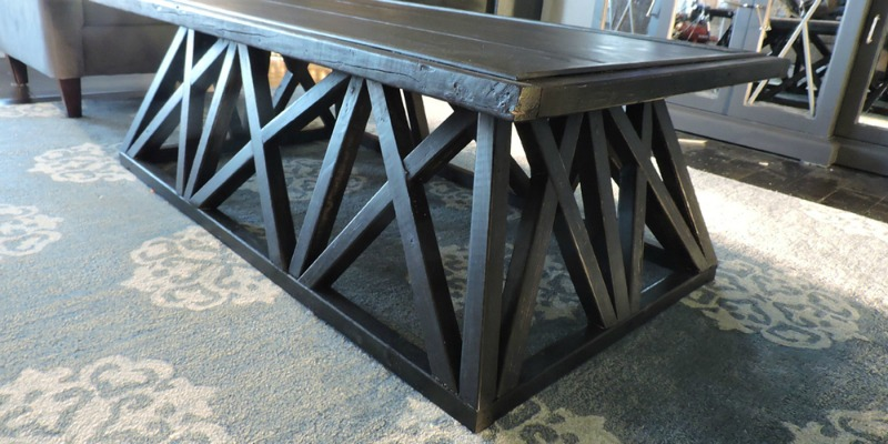 $70 Restoration Hardware Inspired Trestle Door Coffee Table