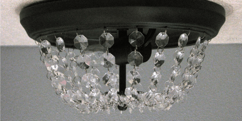 Remodelaholic Update A Dome Ceiling Light With Faceted