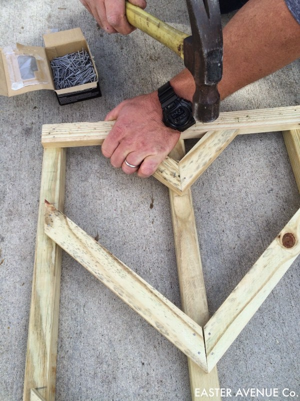 how to build a chevron lattice for garden plants, step 17 - Easter Avenue Co on @Remodelaholic