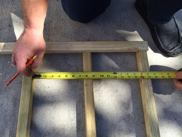 how to build a chevron lattice for garden plants, step 6 - Easter Avenue Co on @Remodelaholic