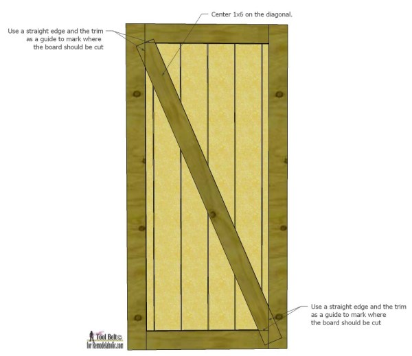 Build a beautiful sliding barn door with great detail using siding! Free plans and tutorial on @remodelaholic