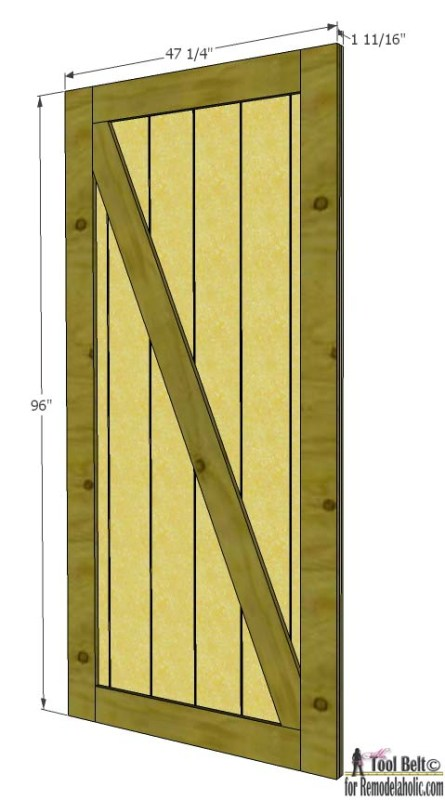 Barn Door from siding house seven- dimensions