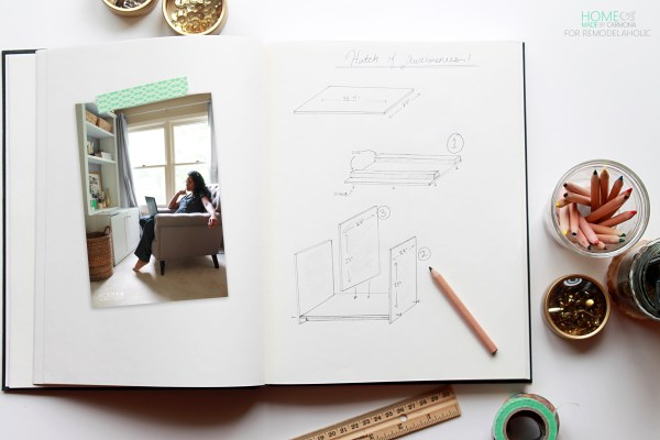 Bookcase Hutch building plans - Home Made by Carmona for Remodelaholic