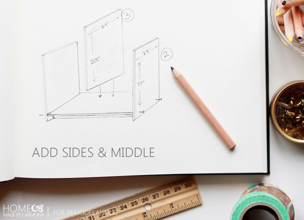 Bookcase - add sides - HomeMadeByCarmona for Remodelaholic