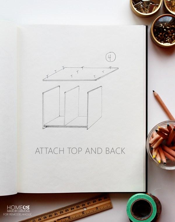 Bookcase hutch - step 4 -HMBC for Remodelaholic
