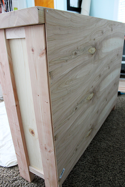 Create a Hutch using Old Windows for Doors by Two Feet First featured on @Remodelaholic