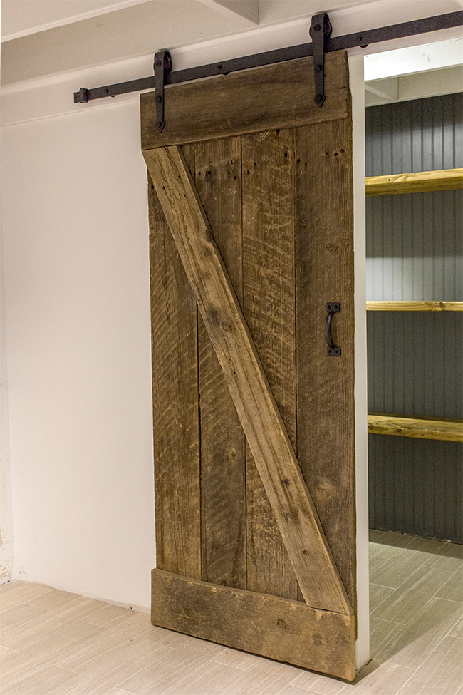 ... DIY rustic barn door and sliding hardware - Jenna Sue Design & Remodelaholic | 35 DIY Barn Doors + Rolling Door Hardware Ideas