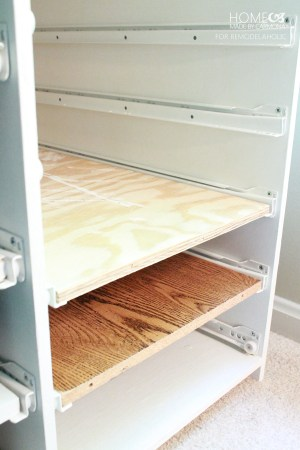 Drawer gliders - HMBC for Remodelaholic