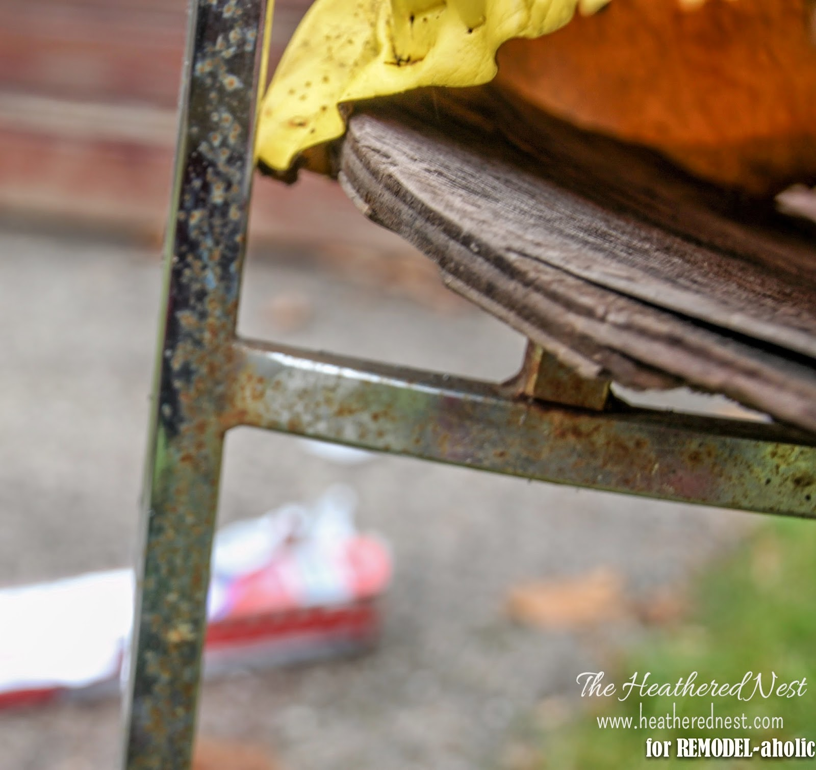 Remodelaholic how to restore rusty chrome how to repair a rusty chair by the heathered nest featured on remodelaholic watchthetrailerfo