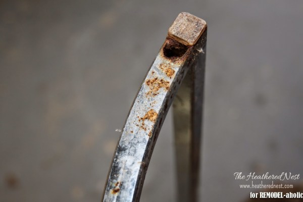 How to repair and refinish a rusty chrome by The Heathered Nest featured on @Remodelaholic