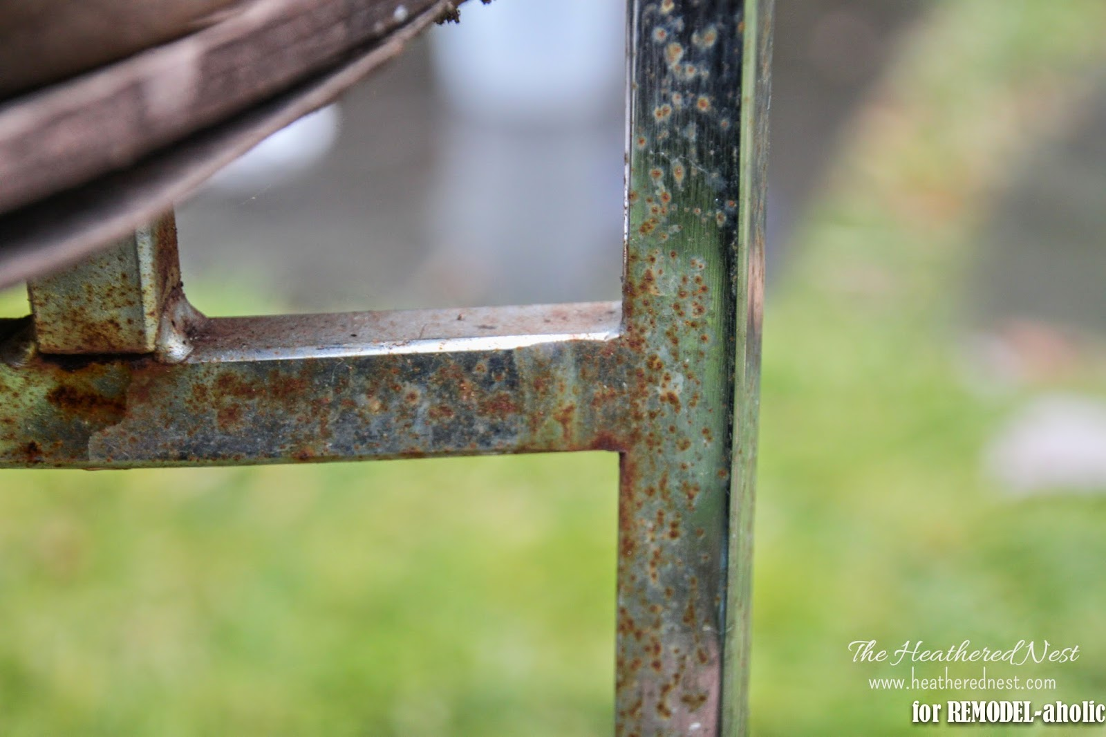 Remodelaholic how to restore rusty chrome how to repair and refinish a rusty chrome chair by the heathered nest featured on watchthetrailerfo