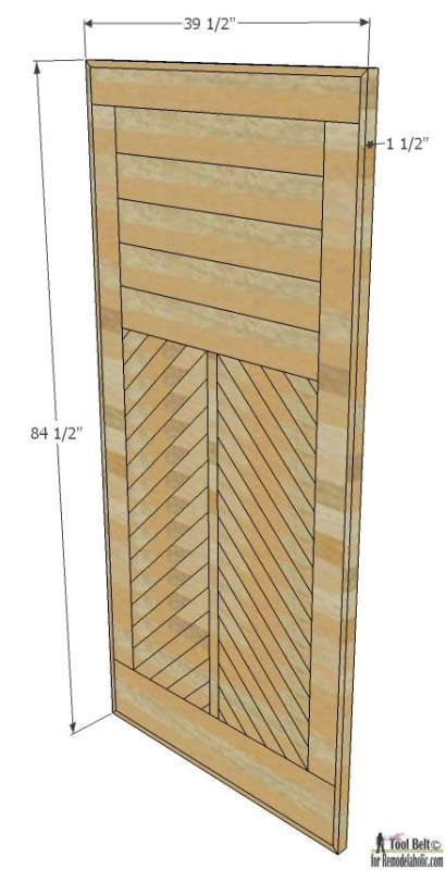 Build and amazing chevron barn door with this great tutorial and woodworking plans.
