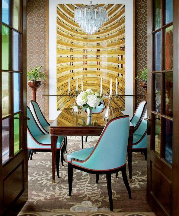 Remodelaholic | Art Deco Dining Room