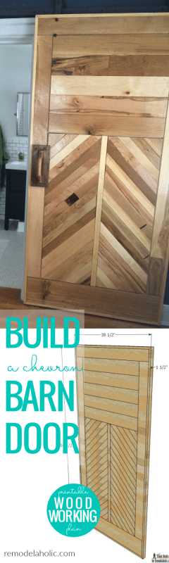 Build A Chevron Barn Door, Wood Herringbone Barn Door, Woodworking Plans, Remodelaholic
