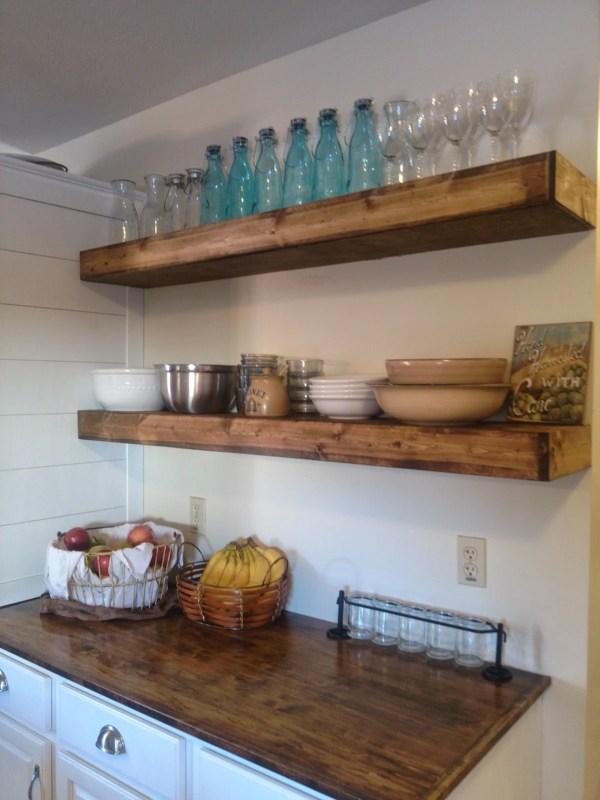 diy floating shelves On Bliss Street