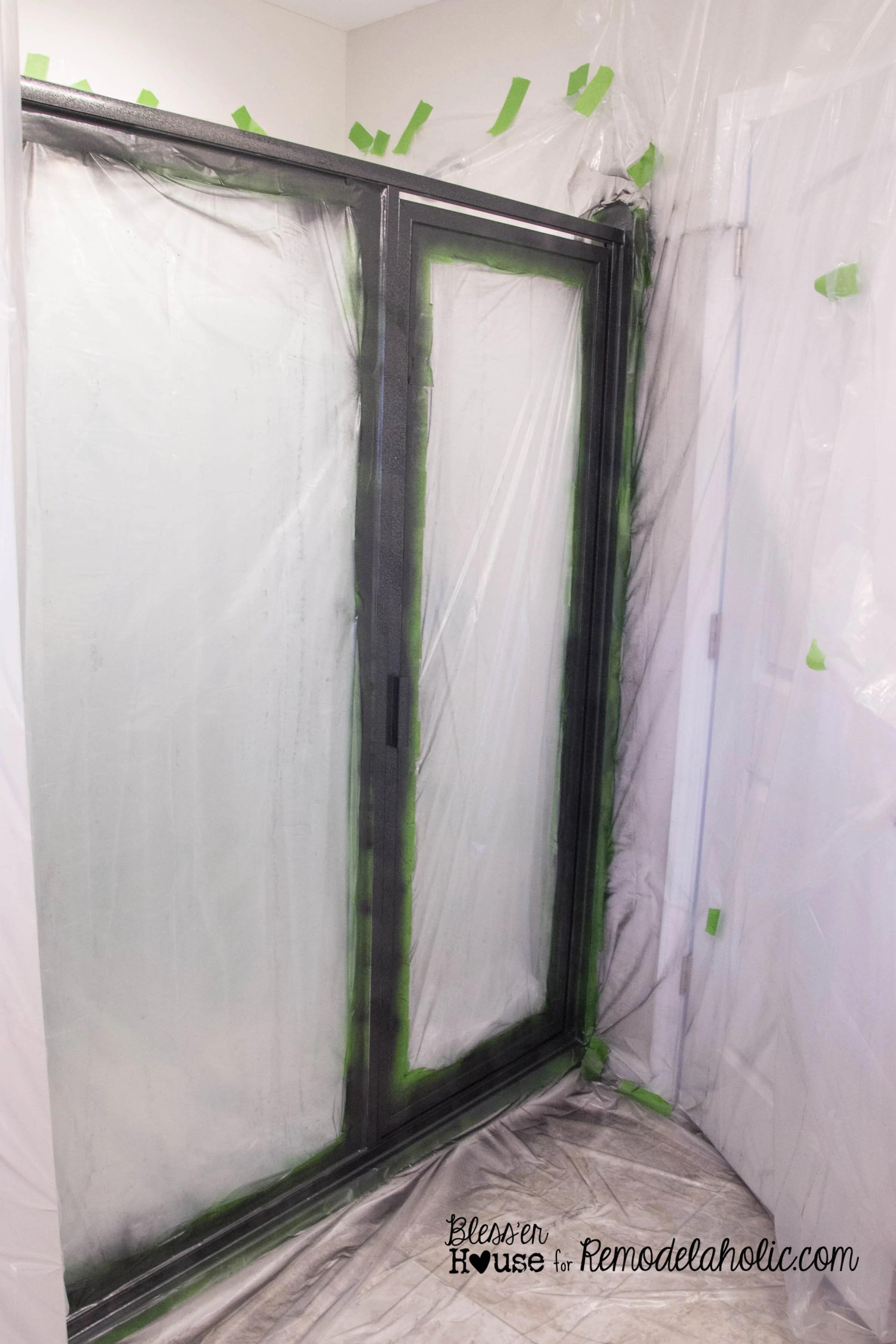 DIY industrial factory window shower door tutorial & Remodelaholic | DIY Industrial Factory Window Shower Door