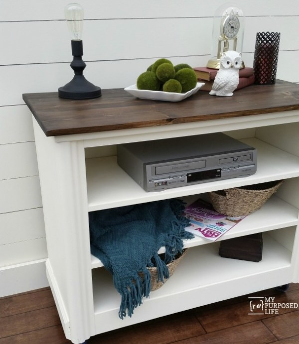 dresser into tv cabinet upcycle My Repurposed Life