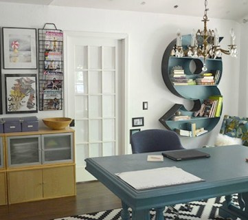 Monogram Wall Shelf and Gorgeous Home Office