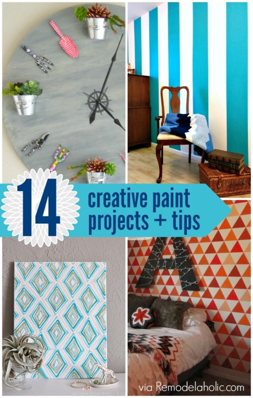14 Creative Paint Projects + Tips @Remodelaholic