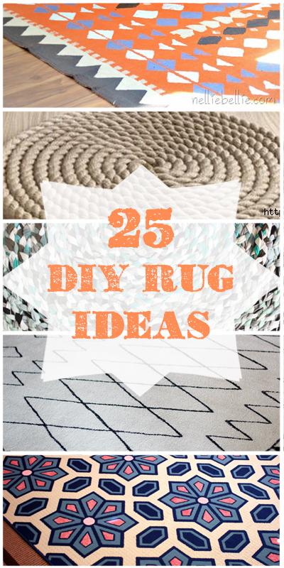 25 creative ways to get the perfect DIY rug for your home using paint, dye, rope, and other surprising materials!