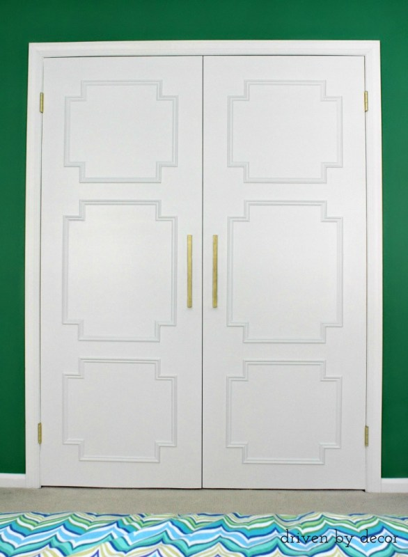 Add Molding to Update Closet Doors by Driven by Decor featured on Remodelaholic