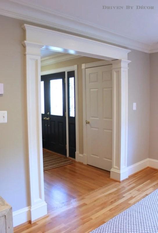 Beautiful Doors - columns and molding around door opening Driven By Decor