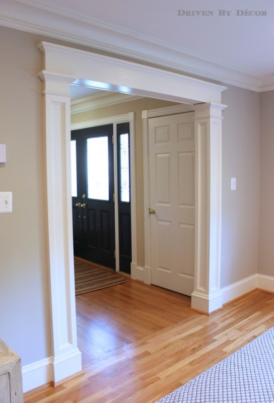 Beautiful Doors - columns and molding around door opening Driven By Decor
