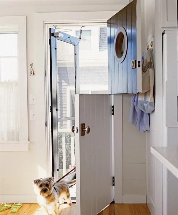 Beautiful Doors - dutch door with porthole window via DecorPad