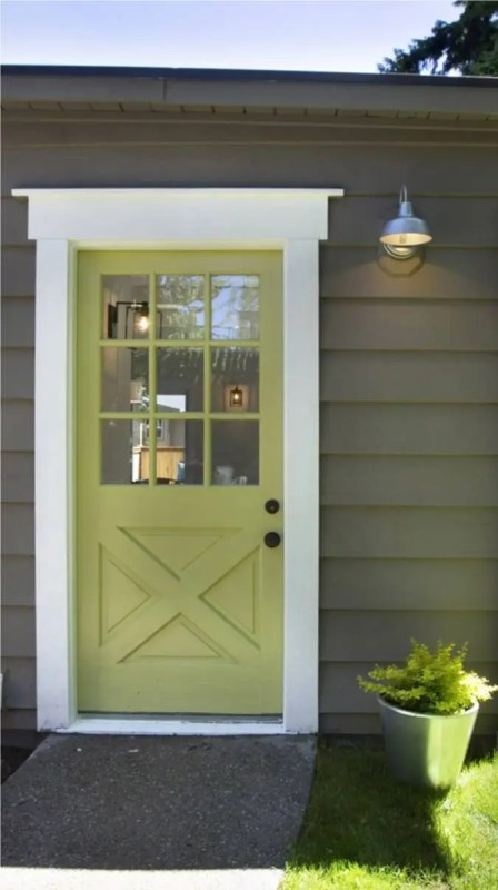 Beautiful Doors - entry door in Martha Stewart Sultana from Modern Cottage Blog