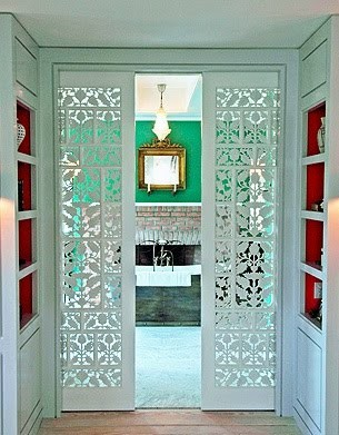 Beautiful Doors - ornate pocket doors via My Design Chic