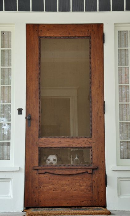Beautiful Doors - wood screen door via Neely Design