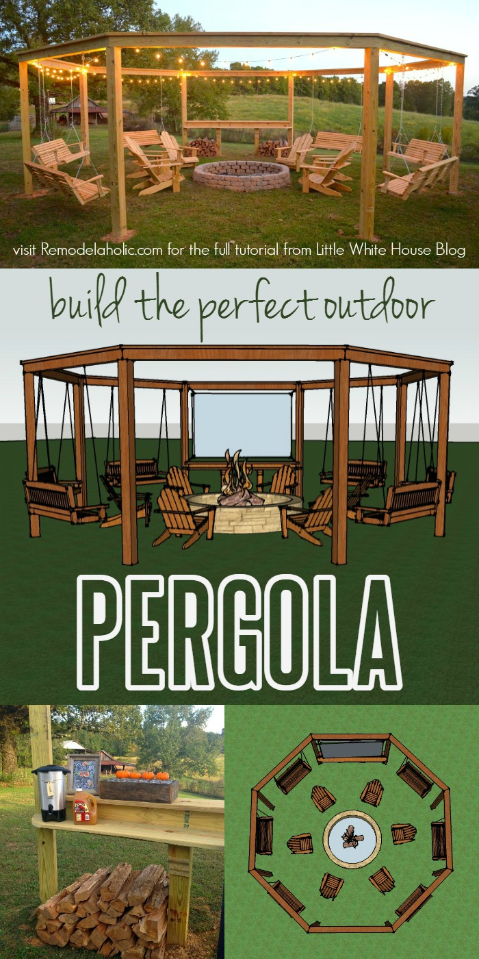 Build The Perfect Pergola! Learn To DIY This Beautiful Circular Pergola  With A Central Firepit