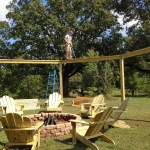 Remodelaholic Tutorial Build An Amazing Diy Pergola For Swings Around A Fire Pit
