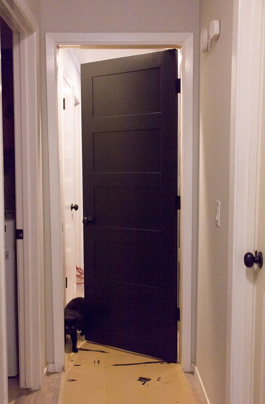 Create a Custom 5 Panel Painted Door by Jenna Sue Design Co featured on @Remodelaholic