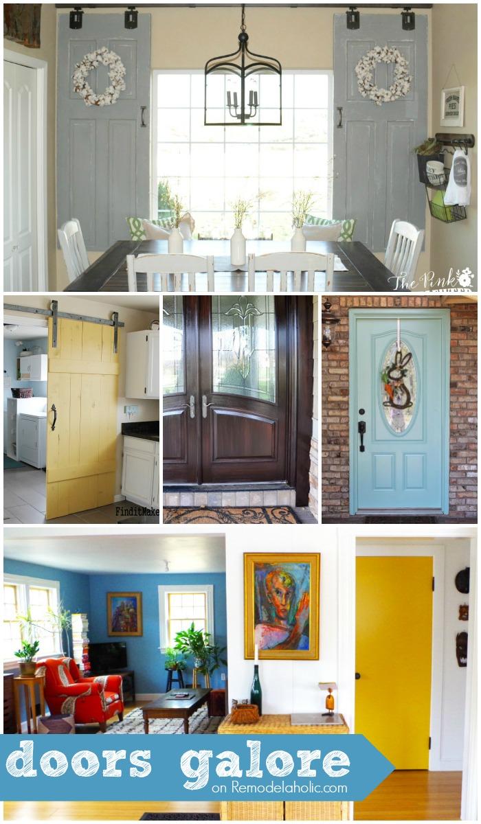 DIY Doors + Tutorials + Inspiration @Remodelaholic & Remodelaholic | Doors Galore!