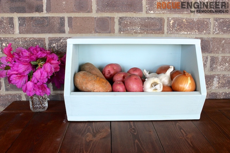 DIY Root Vegetable Storage Bin - Free Tutorial - Rogue Engineer