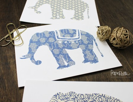 Elephant Art Prints | designed by Paperelli for Remodelaholic.com