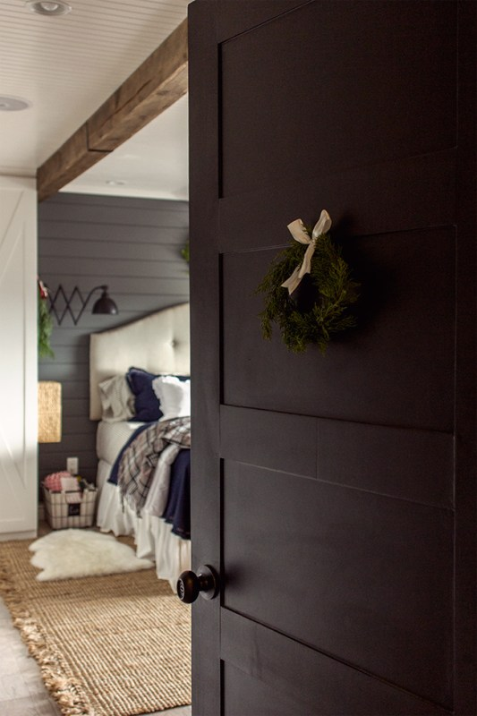 How to Create a 5 Panel Door from a Hollow Core Door by Jenna Sue Design Co featured on @Remodelaholic