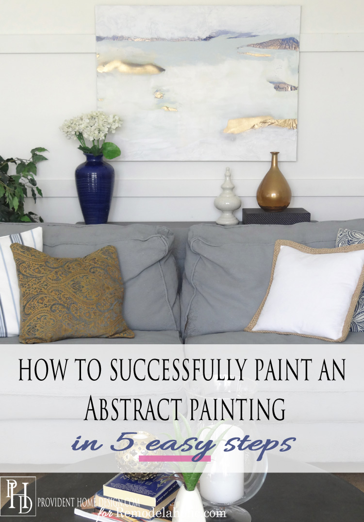 Remodelaholic   How to Successfully Paint an Abstract Painting