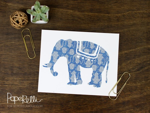 Free Elephant Silhouette Prints   designed by Paperelli for Remodelaholic.com
