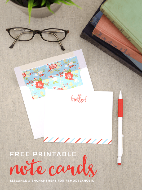 picture about Printable Note Cards named Remodelaholic Absolutely free Printable Observe Playing cards