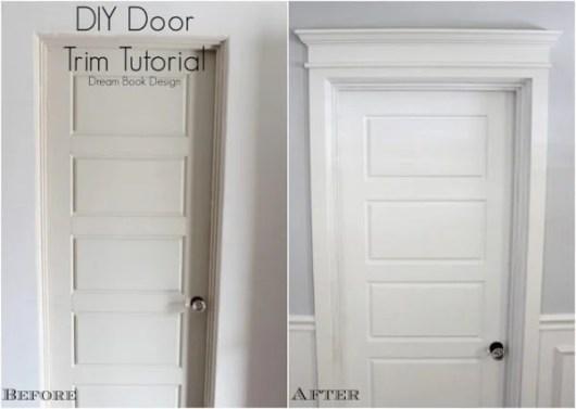 diy door trim tutorial
