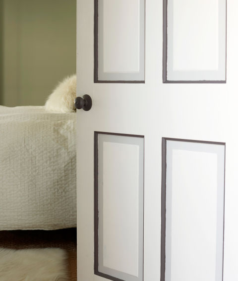 faux painted paneled door via Redbook Mag