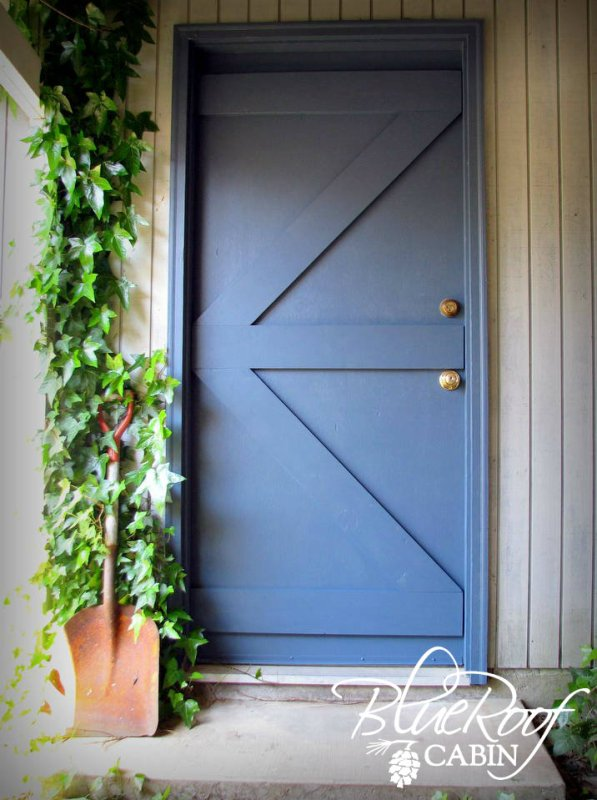 flat door into barn door - Blue Roof Cabin