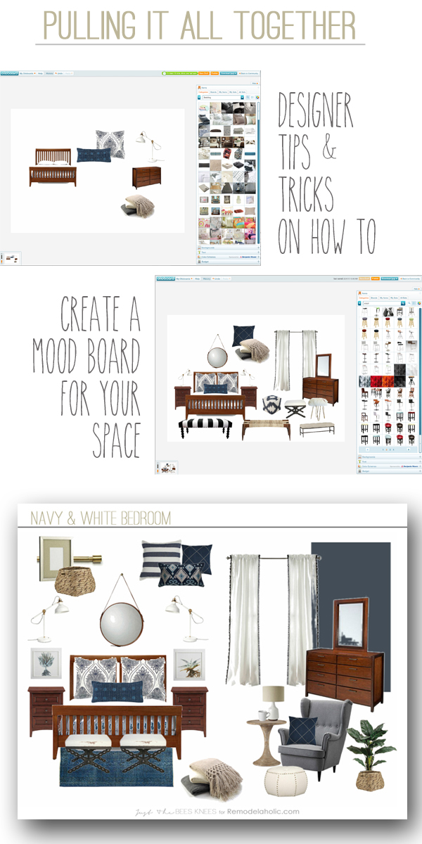 How to create a mood board -- this one easy step will make your next room over easier and more cohesive, because it gives you a plan to work from.